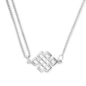 Alex and Ani Endless Knot Sterling Silver Necklace